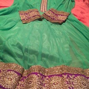 Beautiful Lavish green dress